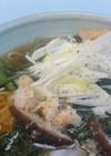 正麺~醤油味で楽しむ食感!