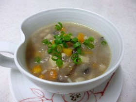 冬ぽかぽか雑穀スープ