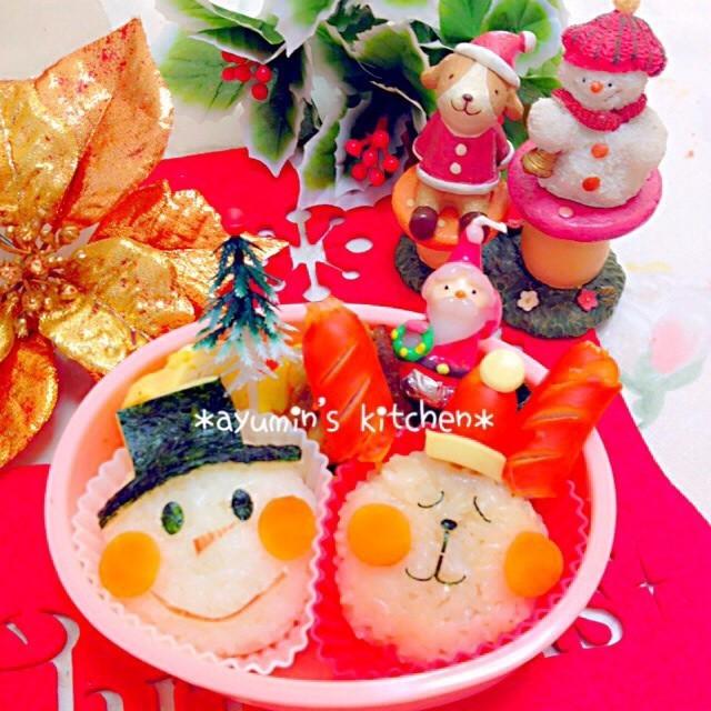キャラ弁*クリスマス*雪だるま♫トナカイ