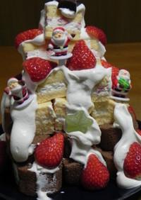 クリスマスに!大人数で食べるタワーケーキ