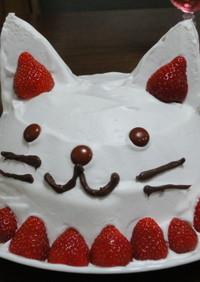 ふんわり可愛いにゃんこのケーキ