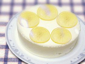 さっぱりさわやか☆レモンのババロアケーキ