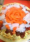 ちらしの素で手抜き!簡単寿司ケーキ