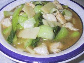 鶏肉とチンゲン菜の炒め煮・中華風