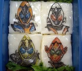 水餃子の皮で半透明キャラ弁シートベース