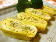 ✿中心にケチャマヨブロッコリーな卵焼き✿の写真