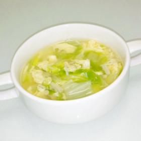 白菜とえのきの卵スープ