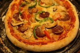 アメリカンピザのふっくら香ばしいピザ生地