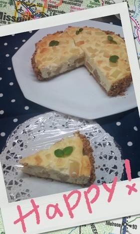 洋梨ベイクドチーズケーキ