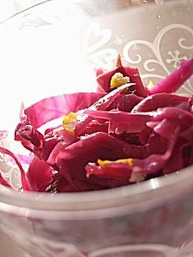 紫キャベツと人参のサラダ