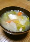 体が温まる♬♪ 鮭ののっぺい汁
