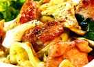 ■旨い!鶏肉とキャベツの塩にんにく炒め■