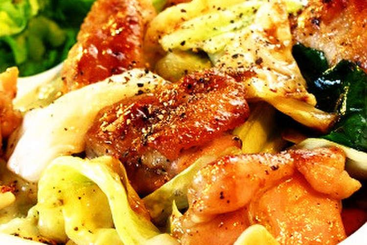 キャベツ 鳥 もも肉 鶏肉、キャベツ、ピーマンのみそ炒め キユーピー3分クッキング 日本テレビ