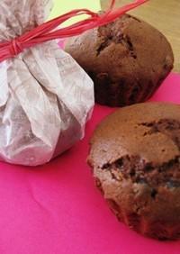 簡単☆チョコチップinチョコカップケーキ