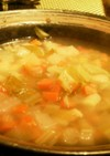 ダッチオーブンで野菜スープ