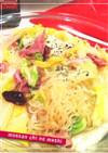 白菜+しらたき+ハムのペペロンチーノ風