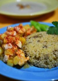 トルコの家庭料理☆ジャガイモと鶏肉の煮物