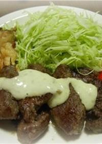鹿肉のバターソテー☆柚子胡椒マヨ風味