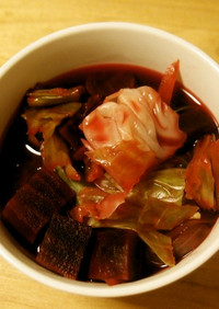 マクロビ養生食☆ビーツの野菜スープ
