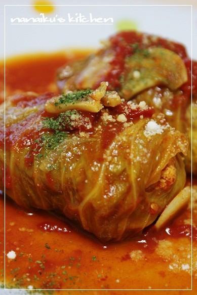 豆腐入りロールキャベツ♡トマトソース