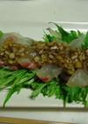 真鯛のカルパッチョ★バルサミコ酢ソースで
