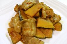豚バラとかぼちゃのピリ辛炒め