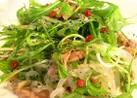 ■旨い、ヘルシー!水菜と白滝のツナサラダ