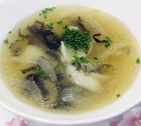百合根とセロリのスープ
