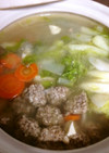 簡単早い☆ヘルシー豆腐入肉団子の春雨鍋