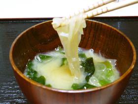 リメイク☆刺身のつま(大根)を味噌汁に♡