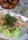 かにかまとレタスのオリーブオイルサラダ