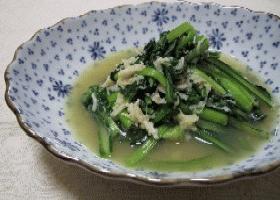 ∽∽小松菜とほたて缶のさっと炒め∽∽