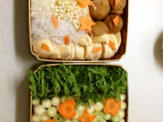 すき焼き用の野菜の切り方☆お重
