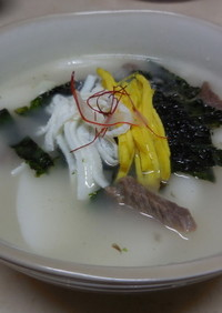 韓国のお雑煮 トックク