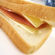 ふわふわパンでハムチーサンド