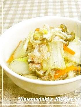 カニ缶と白菜の中華味