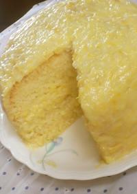 炊飯器で超しとふわ☆黄桃みるくのケーキ♪