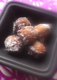 簡単☆モチモチ☆ゴマキナコドーナツ