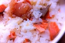鮭と明太子の混ぜご飯