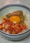 美味しい~♪納豆キムチ卵かけご飯♪