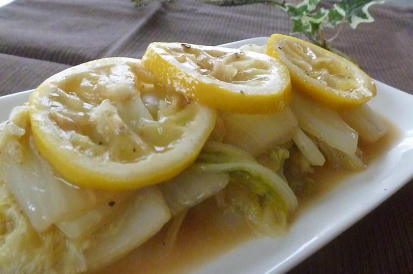 白菜のレモンバターソテー♪