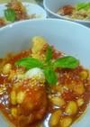 鶏と大豆のトマト煮