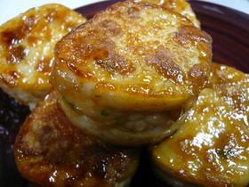 豚ひき肉でレンコンはさみ焼き