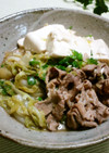 白菜と豚の肉豆腐✿