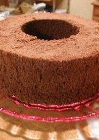 米粉でふわふわ♪ココアシフォンケーキ