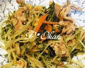ポリフェノール豊富☆水菜と豚肉の生姜炒め