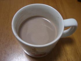 きれいなコーヒーエキスでホットココア