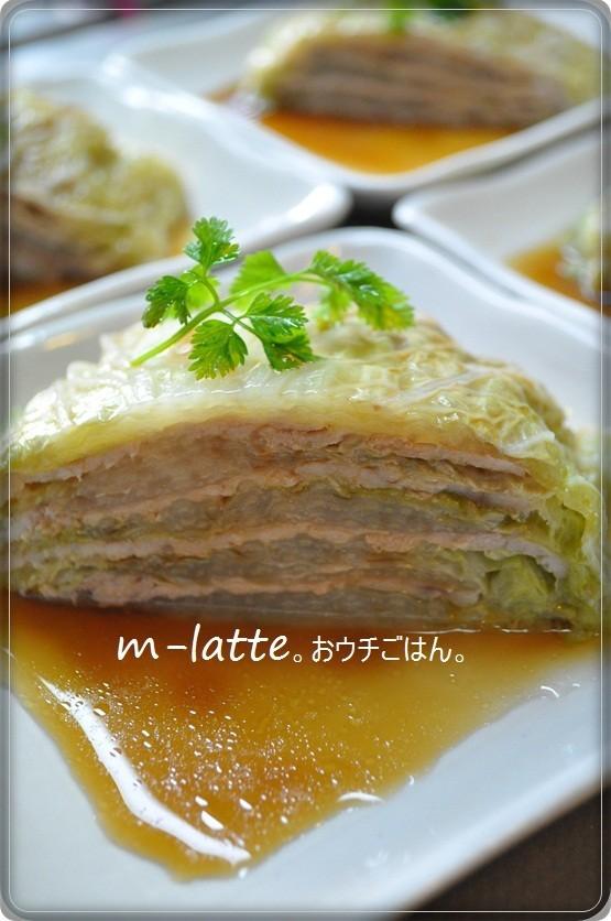 レンジで10分*豚と白菜のミルフィーユ。