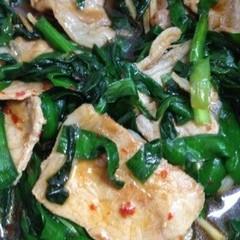 ニラと豚肉の香味タレ炒め