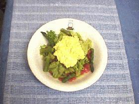 トマトとたまごの簡単サラダ